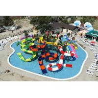 Giant Inflatable Water Park Equipments Aqua Tower Fiberglass with Galvanized Tube Manufactures
