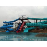 Huge Spiral Water Slide Outdoor Water Amusement Park Equipment Manufactures