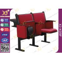 China Steel Leg Center Distance 520 mm High School Classroom Furniture Lecture Hall Chair on sale