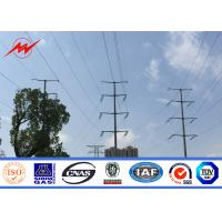 China 11kv 33kv Power Distribution Transformer Electric Steel Poles With Cross Arm on sale