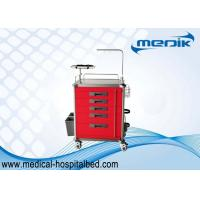 China Hospital Medical Crash Cart With Stainless Steel Structure / Five Drawers on sale