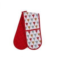 China Custom Long Cotton Microwave Oven Mitts Christmas Theme For Hand Protection wholesale