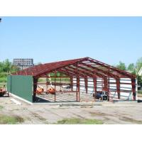 Double Span Steel Building Frame , Industrial Steel Framed Buildings With H Type Columns / Beams Manufactures