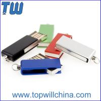 Hotsale Tiny Swivel Thumb Drives 16GB 32GB with Free Key Chain and Free Logo Printing Manufactures
