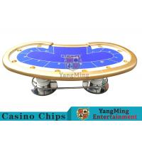 China 10 Players Casino Poker Table / Custom Poker Tables With Disc Shape Legs on sale