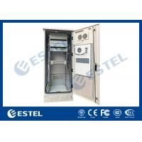 China Single Wall Stainless Steel Heat Insulation 38U Outdoor Telecom Cabinet 750x700x2000  With DC Air Conditioner wholesale