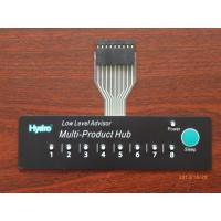 China Copper Film Embossed Flexible Push Button Membrane Switch with LED / FPC Circuit on sale