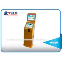 China IR Touch Screen Self Service Ticket Vending Kiosk Back LED Light Advertising Panel on sale