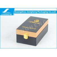 Rectangle PU Leather Essential Oil Packaging Boxes With Logo Gold Hot Stamped Manufactures