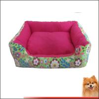 China Best dog beds for large dogs Canvas fabric dog beds with flower printed China manufacturer on sale