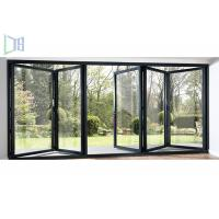 China Extruded Aluminium Folding Doors Fire Retardant With Single / Double Glazing Glass wholesale