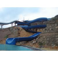 Open Flume Spiral Water Slide Swimming Pool Water Slide For Kids Manufactures