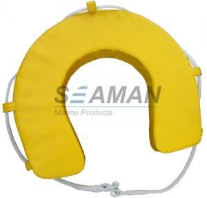 Yellow / White PVC Horseshoe Lifebuoy Ring Leisure Boat Lifesaving Ring Manufactures