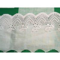 China 100% Cotton Eyelet Embroidery Lace Trim on sale