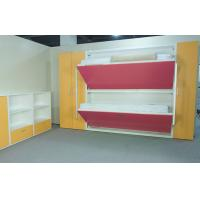 China Wood Panel Bunk Wall Beds For Domitory E1 Grade Material , SGS Approved on sale