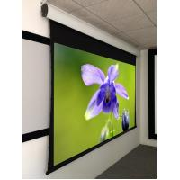 China 100 Inch Tab Tensioned Motorized Screen , home theater motorized screen HD Grey Fabric on sale
