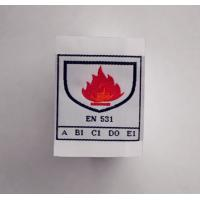 FR woven label for flame retardant clothing Manufactures