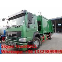 China SINO TRUK HOWO LHD/RHD garbage compactor truck for sales, Best price12cbm compacted garbage truck for sale wholesale