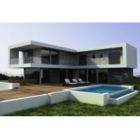 China Steel Structural Small Prefab Homes Prefabricated Villa / Modern Simple Style Villa on sale