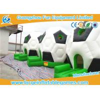 Family Funny Inflatable Bouncy Castle Football Bounce House For Party 15ft * 12ft Manufactures