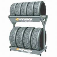 Tires Display Rack, Made of Steel with Powder Coating Manufactures