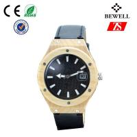 Buy cheap Big Face Wooden Watch With Leather Band , Leisure Womens Wood Watch from wholesalers