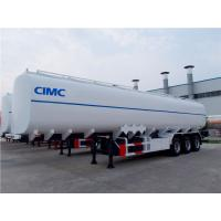China Heavy capacity 3 axles fuel tank truck trailer with tool box on sale