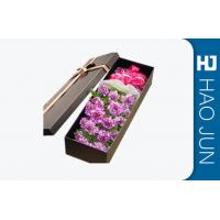 China High End Flower Bouquet Delivery Boxes / Fashionable Cardboard Rose Boxes wholesale