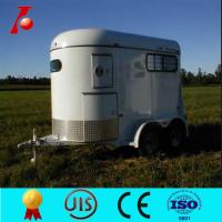 China 2 horse float(trailer) with front tool box on sale