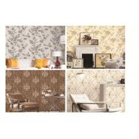 China PVC waterproof wallpaper washable removable fashion design different color on sale