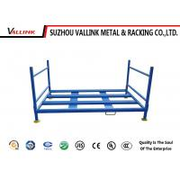 Durable Folding Car Tyre Storage Rack For Garage / Blue Tire Pallet Rack Manufactures