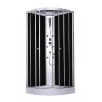 China 900x900x2150mm Fashion Massage Corner Shower Stalls , Circle Quadrant Shower Cabin with white acrylic tray and roof wholesale