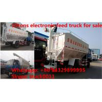Euro 4 dongfeng 190hp diesel 20m3 livestock and poultry feed truck for sale, best price 10tons feed transported truck Manufactures
