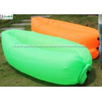 Orange N Green Air Couch Inflatable Sleeping Bag With Lead Free Nylon Ripstop Manufactures