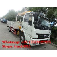 high quality and competitive price 4*2 LHD 3.5ton telescopic truck mounted crane for sale