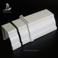 China Rectangular PVC Rain water Guttes Factory Wholesale Price UV Resistant Plastic PVC roof rain gutter aluminum rain gutter on sale