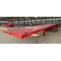 Long Vehicles Flat Bed Semi Trailer 3 Axles 20ft 40ft 45 Tons With Twist Lock Manufactures