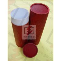 China Red Food Cardboard Tubing Packaging Biodegradable With Goods In Stock on sale