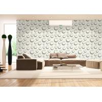 0.53*10M Embossed Interior Room Wallpaper , Fashion Round Bead Pattern Wallpaper Manufactures