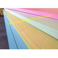 Yellow / Blue / Green / Pink Styrofoam Insulation Sheets With Waterproof Package Manufactures
