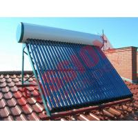 China Roof Flat Solar Water Heater , Copper Pipe Solar Water Heater For Washing on sale