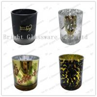China plated glass candle holders for weddings wholesale