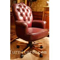 Leather Chair Home office chair moving chair anqitue leather chairs FS-168 Manufactures
