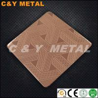 China 201 304 316 Etching Stainless Steel Sheets with MIRROR and  red-copper colors on sale