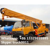 dongfeng brand 190hp aerial working platform truck for sale, hot sale dongfeng 153 20m overhead working truck for sale Manufactures