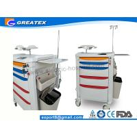 Medical Device Hand Drug Trolleys ,  Aluminum Steel Nurse Trolley 870mmx590mmx970mm Manufactures