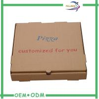 Small Brown Corrugated Boxes Paper Cardboard For Pizza Packing Manufactures