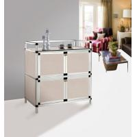 China Partic Board Paper Aluminum Storage Cabinets 4 Drawers Unit  64 x 43 x 79 cm on sale
