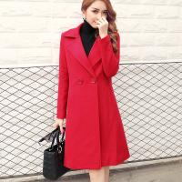 Thickening of ladies wool and cotton turn-down collar coat fashion and casual Manufactures