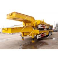 Tri Axle Heavy Duty Low Loader Semi Trailer For Heavy Equipment Transport Manufactures